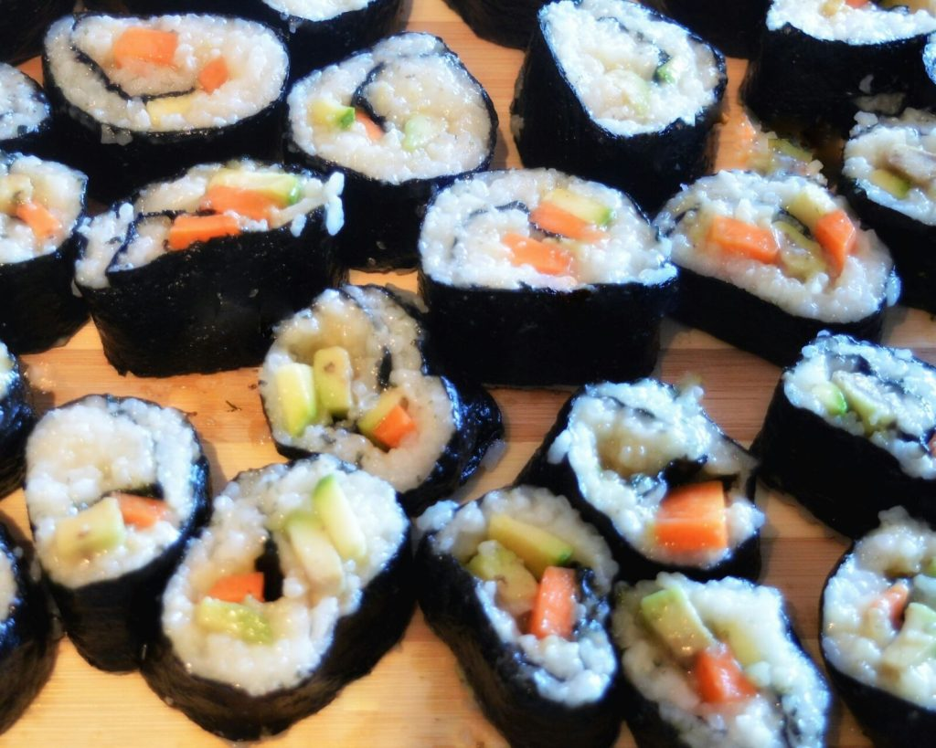 come fare sushi vegano