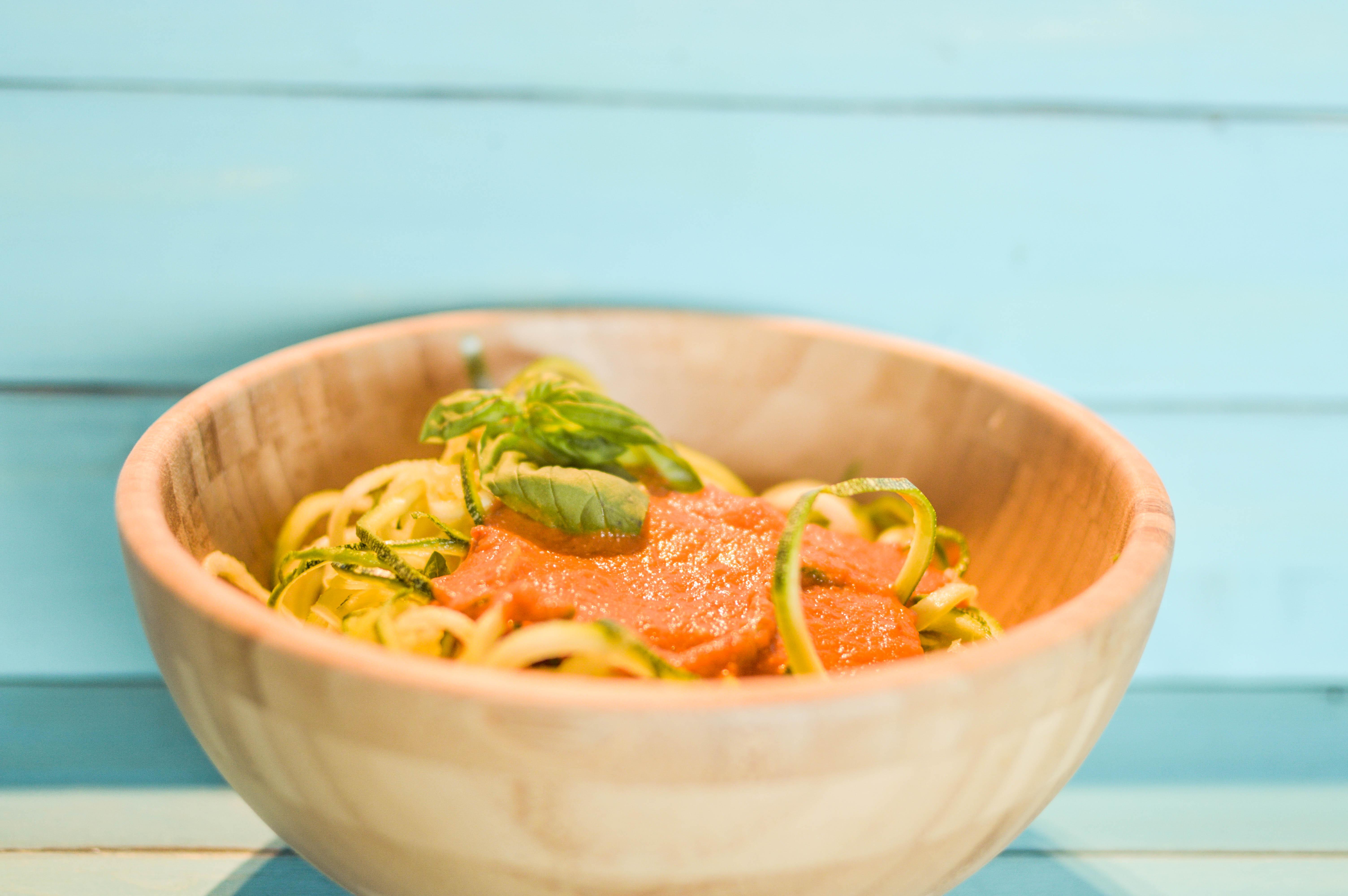 spaghetti di zucchine raw