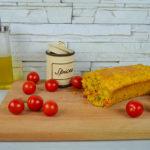 Plumcake salato vegano pomodorini, olive e capperi