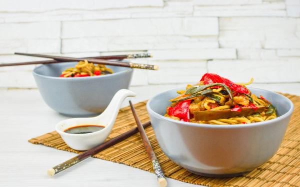 noodles con verdure