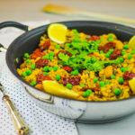 Paella vegan con verdure