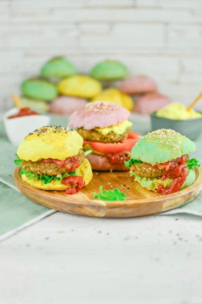 panini Vegan burger colorati