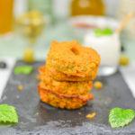 Aperitivo vegan: muffin di patate dolci e spiedini di tofu