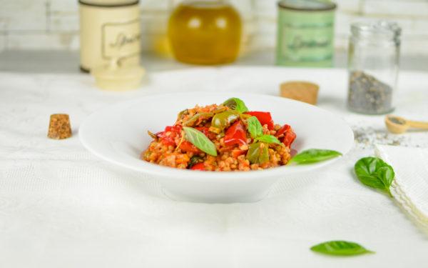 grano saraceno con peperoni