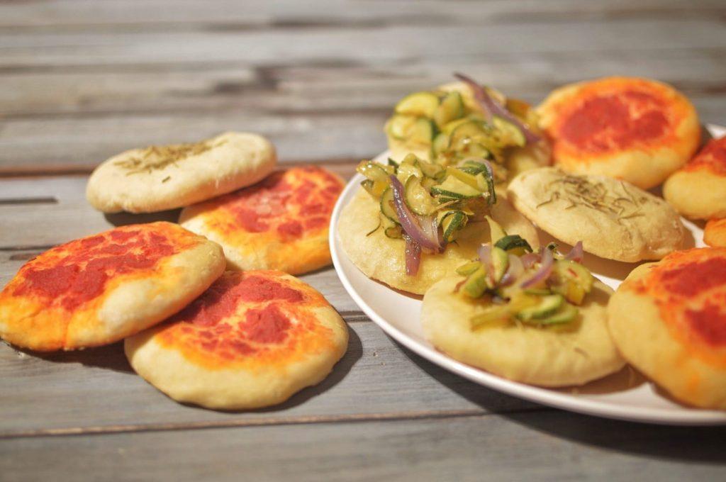 pizzette vegane miste