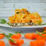 Pasta al forno con zucca, funghi cardoncelli e besciamella